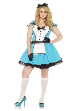Vestido de Alice del cuento talla extra