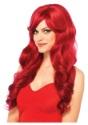 Peluca cabello largo y ondulado rojo