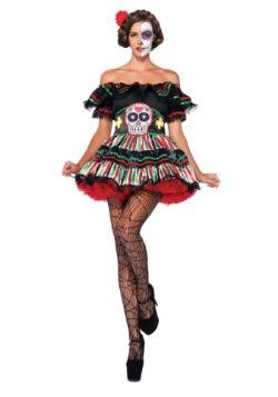 Disfraz de muñeca de Día de Muertos
