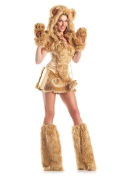 Disfraz de oso dorado deluxe para mujer