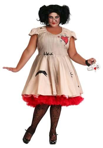 Disfraz de muñeca vudú talla grande para mujer