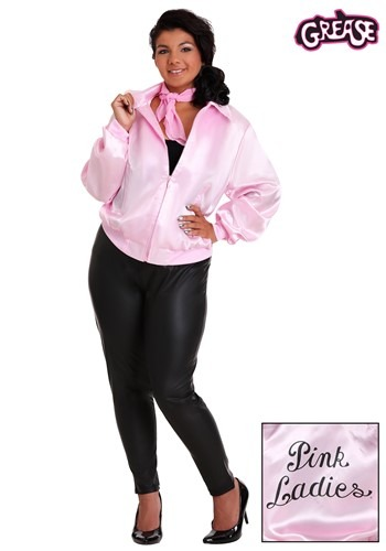Chaqueta de mujer color rosa Grease Plus Size