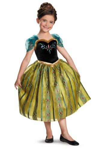 Vestido de coronación Frozen Deluxe Anna para niñas