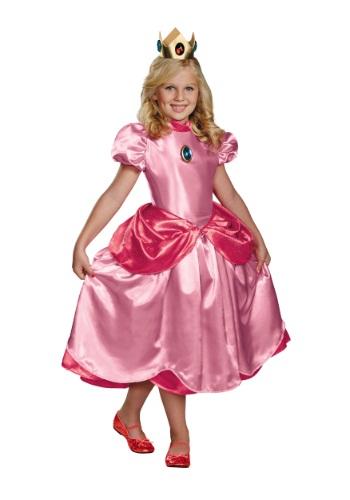 Disfraz de la Princesa Peach deluxe para niñas