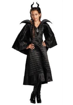 Disfraz de Maléfica Deluxe negro para niñas