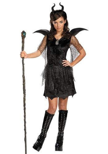 Disfraz de vestido de Maléfica negro tween
