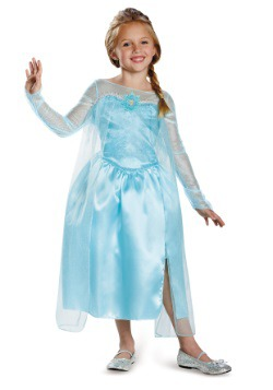 Vestido Elsa Reina de la Nieve de Frozen clásico para niñas