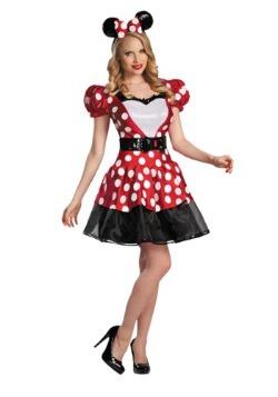 Disfraz de Minnie Mouse rojo glamoroso