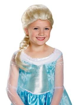 Peluca de Elsa de Frozen para niñas