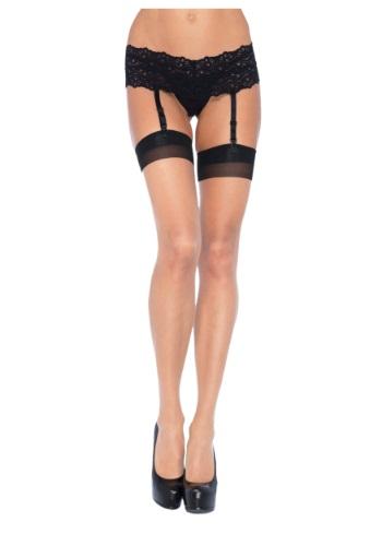 Medias altas negro/nude