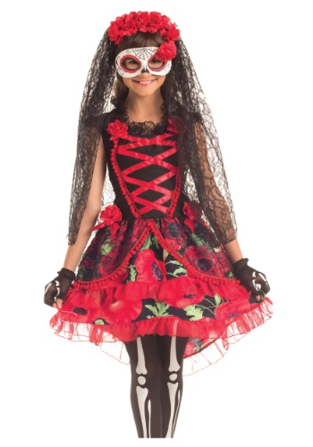 Disfraz infantil de Señorita de Día de Muertos