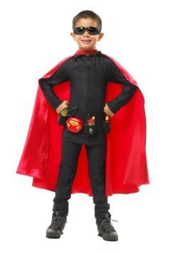 Capa roja de superhéroe de lujo para niños
