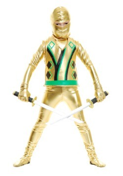 Disfraz Gold Ninja Avengers Series III para niños pequeños