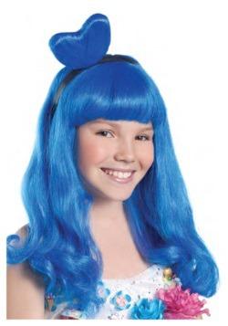 Peluca de estrella pop azul para niño