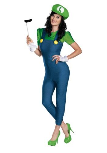 Disfraz de Luigi Femenino Deluxe