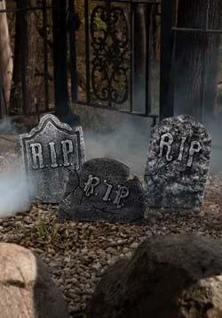 Set de lápidas de piedra agrietada