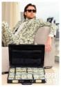 Maletín de traje de dinero para hombres
