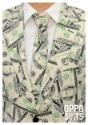 Primer plano de traje de dinero para hombre