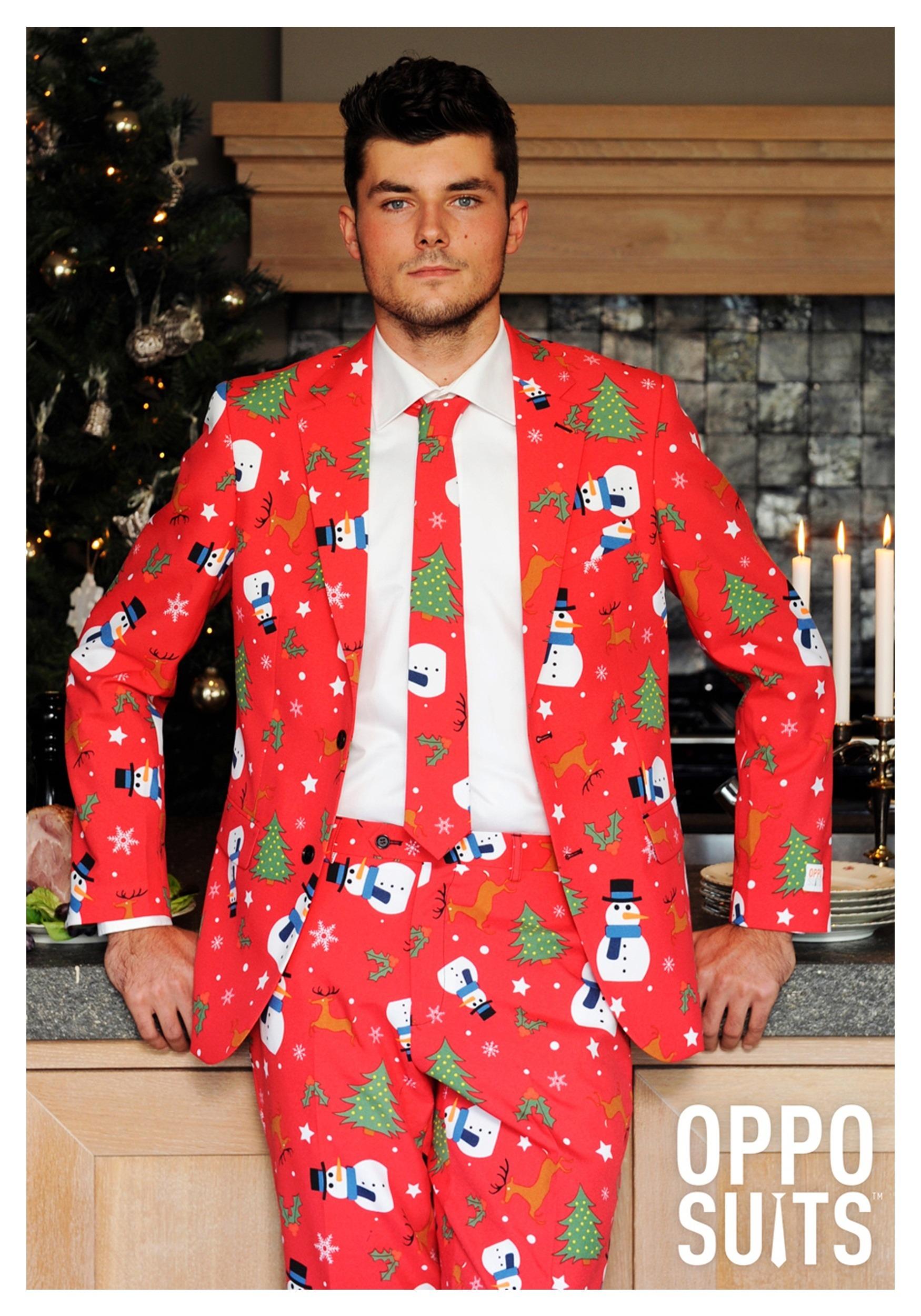 traje de los hombres de color rojo Navidad OppoSuits 32c0f7ada6f