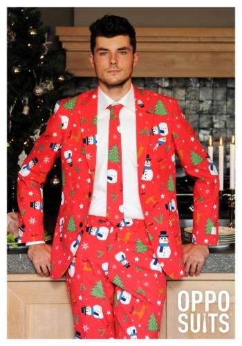 traje de los hombres de color rojo Navidad OppoSuits