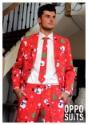 Traje de Navidad para hombre rojo
