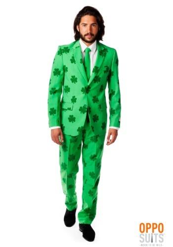 Traje de hombre verde del día de San Patricio