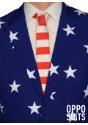 Primer plano de traje de estrellas y rayas para hombre
