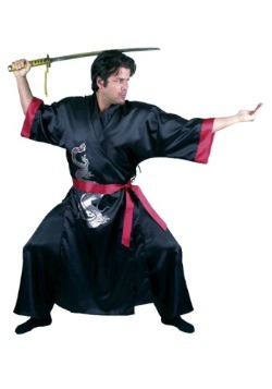 Disfraz de adulto samurai negro
