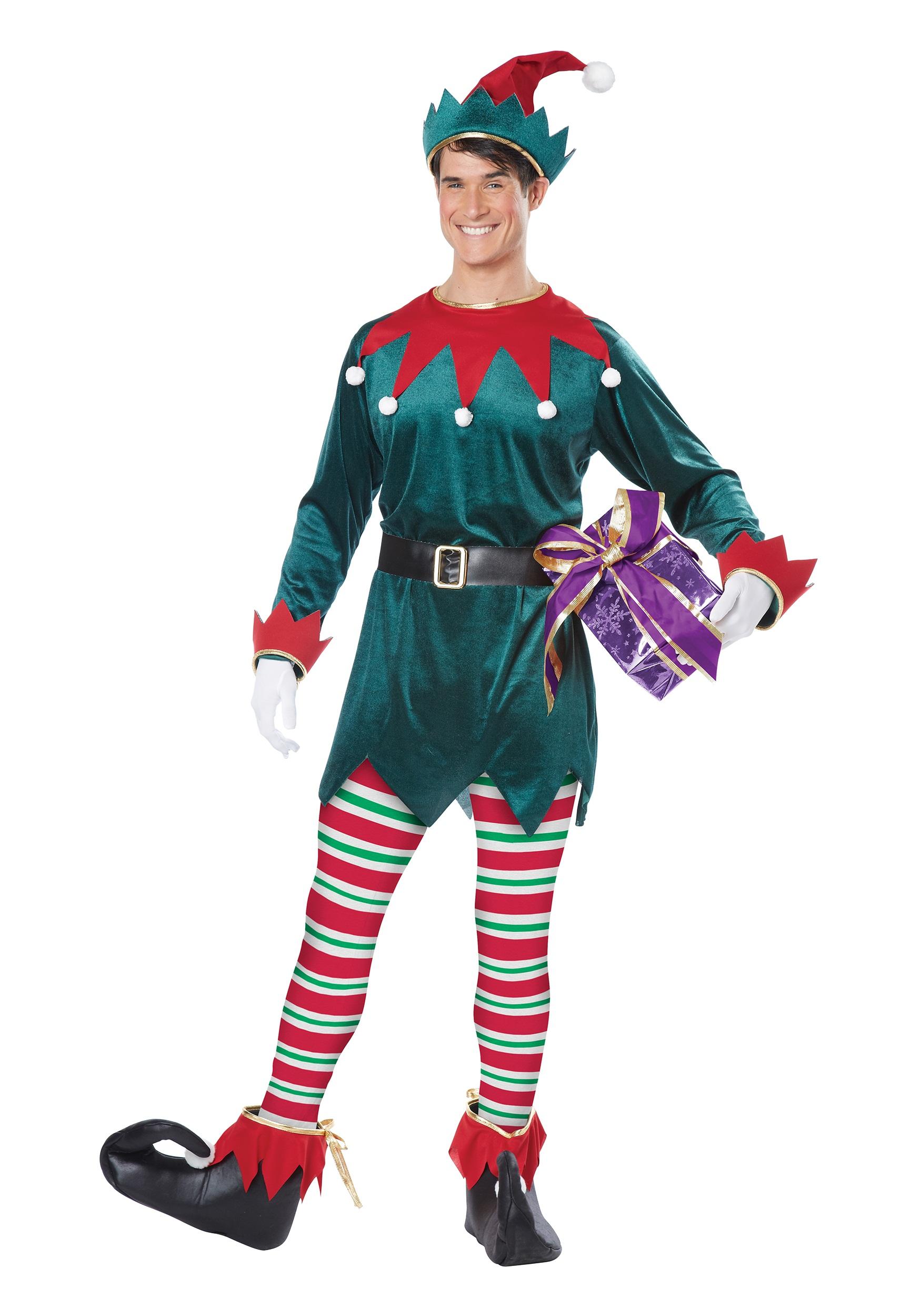9507ae2ed Disfraz de duende de Navidad para adulto