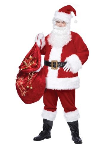 Traje de lujo clásico de Santa Claus