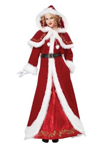 Disfraz de lujo de la señora Claus clásico