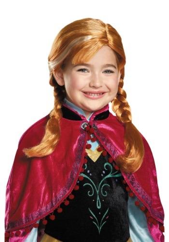Peluca infantil de Anna de Frozen