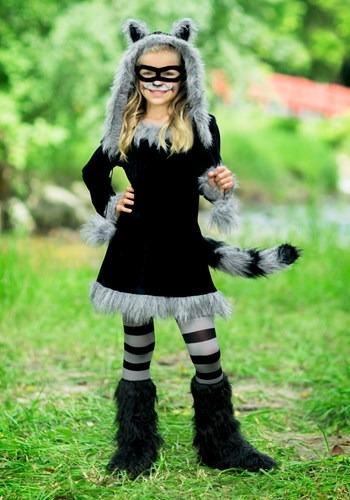 Disfraz de mapache dulce para niña