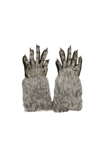Guantes grises de hombre lobo