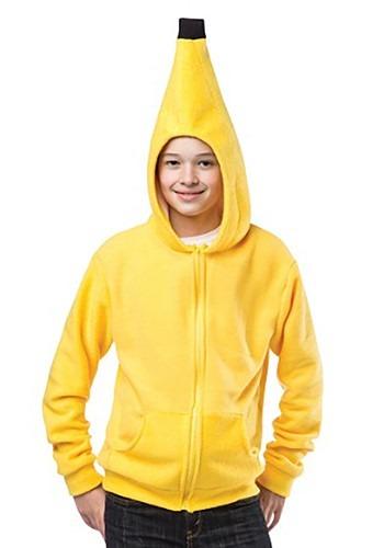 Sudadera con capucha de plátano para adolescente