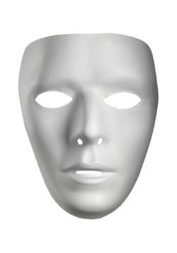 Máscara para hombre en blanco