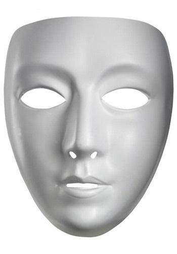 Máscara de mujer en blanco
