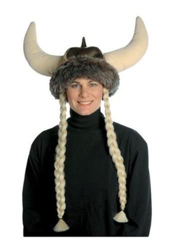 Gorro Vikingo de felpa con trenzas