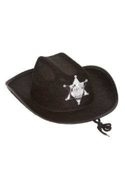 Sombrero de sheriff negro para niños