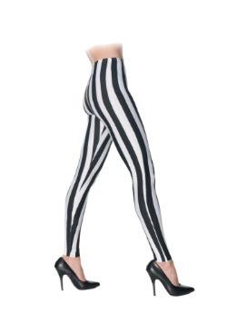 Leggings de rayas de blanco y negro