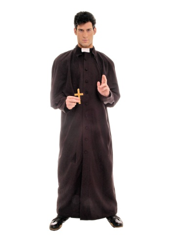 Disfraz Sacerdote deluxe para hombre
