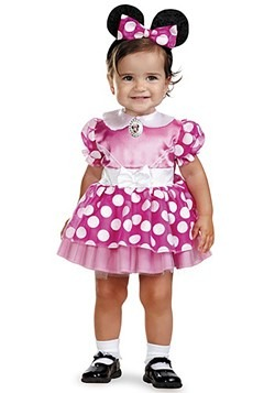 Disfraz rosa de Minnie Mouse para bebé