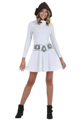 Vestido Soy Leia con capucha para mujer