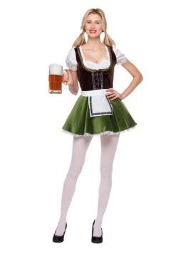 Disfraz de niña bávara para mujer