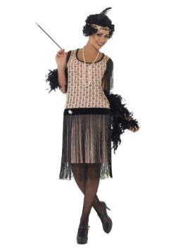 Disfraz Coco Flapper de los años 20 para mujer talla extra