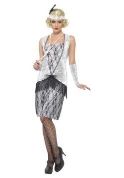 Disfraz para mujer Silver Flapper de los años 20