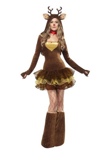 Disfraz de reno Fever para mujer