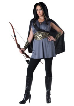 Disfraz de cazadora talla grande para mujer