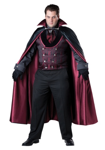 Disfraz de vampiro de medianoche para hombre talla extra