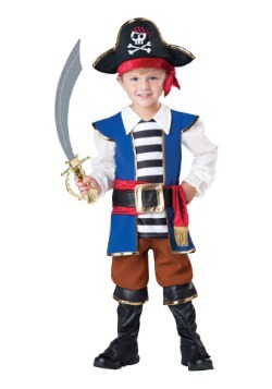 Disfraz de pirata capitán para niños pequeños